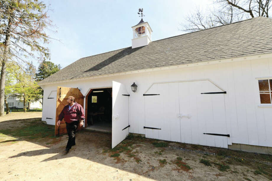 Hour photo / Erik TrautmannParks and Recreation Director, Michael Moccaie talks about completing renovations to Fodor Farm.