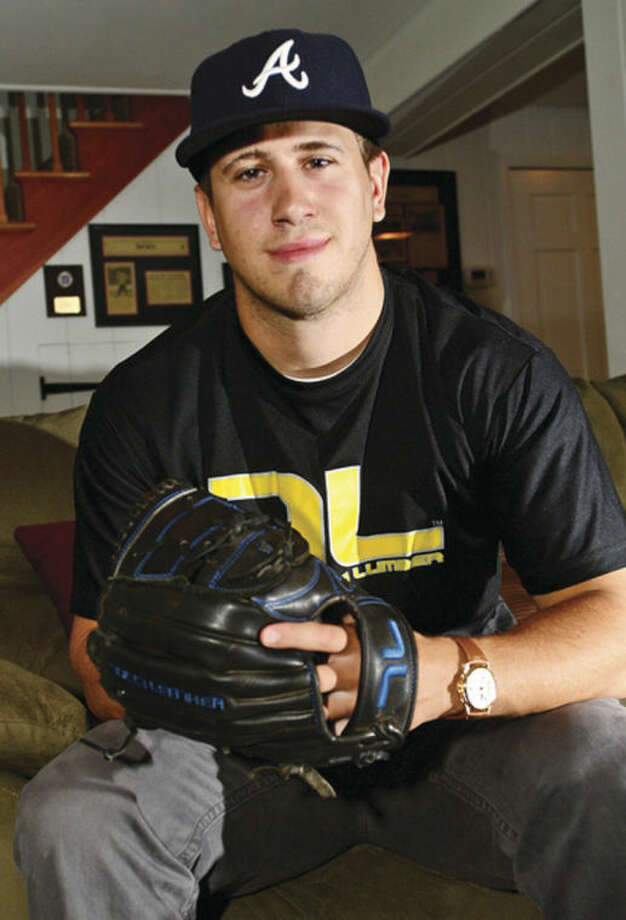 Hour photo / Erik TrautmannFormer McMahon pitching standout Rocco Cundari signed a professional baseball contract with the Atlanta Braves Friday.