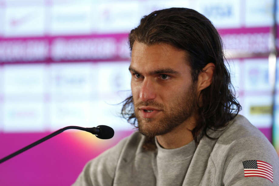 United States' Graham Zusi talks during a press conference following a training session in Sao Paulo, Brazil, Tuesday, June 17, 2014. The United States will play against Portugal in group G of the 2014 soccer World Cup on June 22. (AP Photo/Julio Cortez)