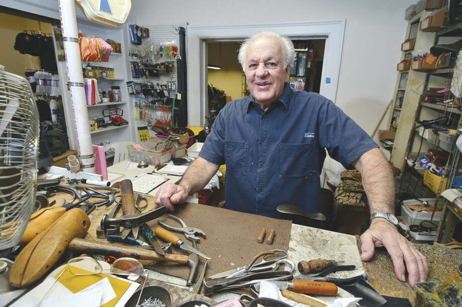 Hour photo/Alex von KleydorffJoe Ancona, owner of Economy Shoe Repair on Butler Street, Norwalk, spent an hour with The Hour last week.