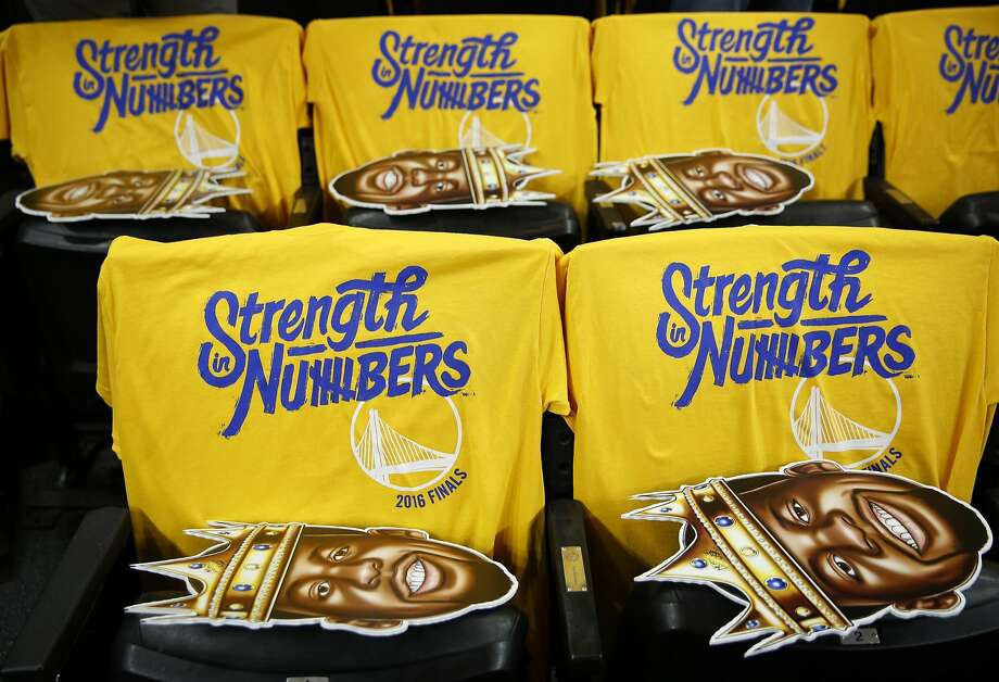 The Golden State Warriors sold two seats to Game 4 of the NBA Finals for a total of $101,015, which set a new record for the most expensive tickets sold for the NBA Finals, according to Darren Rovell of The Action Network. Photo: Connor Radnovich, The Chronicle