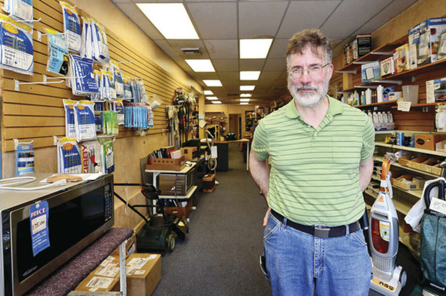 Hour photo / Erik TrautmannOwner of Appliance Service Center of Norwalk, Thomas O'Flaherty, will be closing his doors after 29 years.