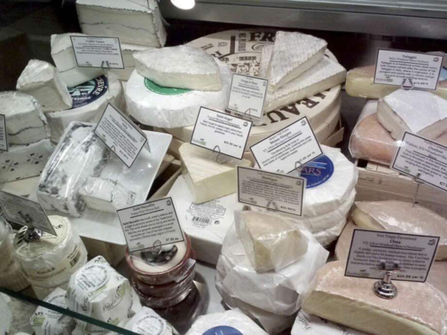 Photo by Frank WhitmanHand-made cheeses at Fairfield Cheese.