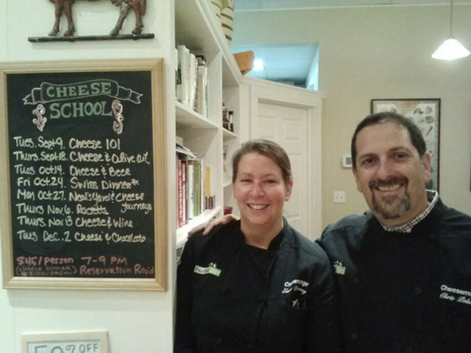 Photo by Frank WhitmanLaura Downey and Chris Palumbo at Fairfield Cheese.