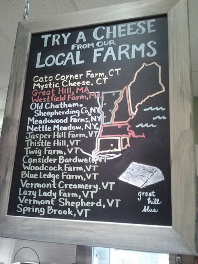 Photo by Frank WhitmanLocal artisan cheeses available at Fairfield Cheese.
