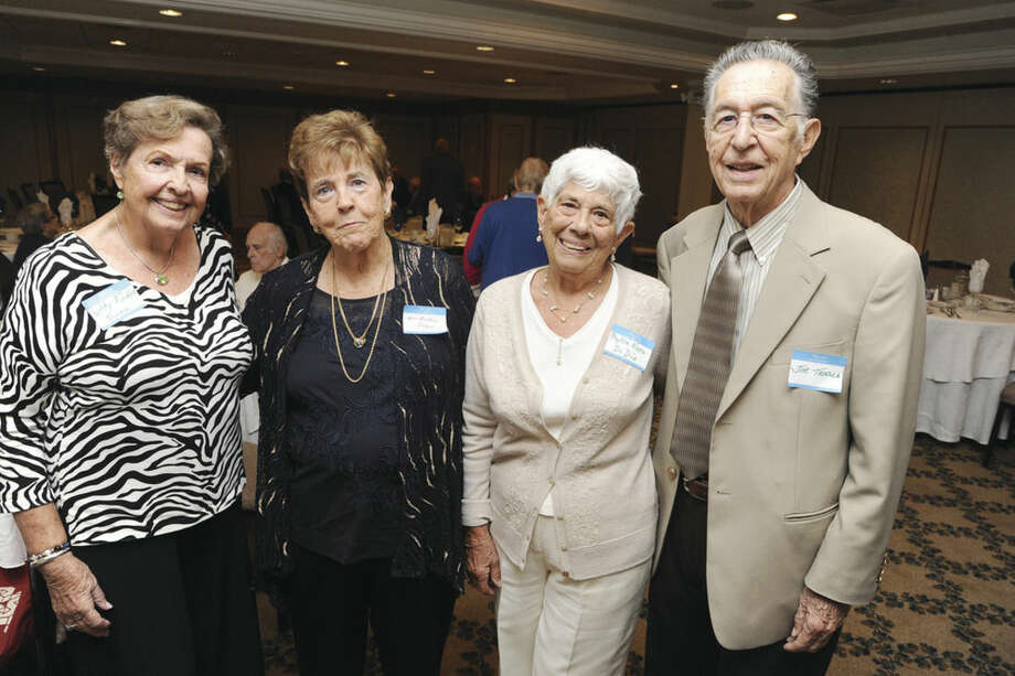Hour photo/Matthew VinciThe four-member committee who arranged the 65th anniversary reunion of the Norwalk High School Class of 1949 are, from left, Patricia Fodor Dunn, Anne Buckley Porco, Phyllis Nero DiDio and Joseph Tavella.