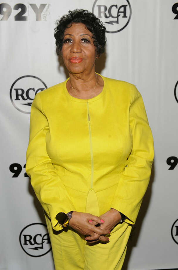 Aretha Franklin attends the 92Y Presents Aretha Franklin and Clive Davis In Conversation at the 92nd St. Y on Wednesday, Oct. 1, 2014 in New York. (Photo by Brad Barket/Invision/AP)