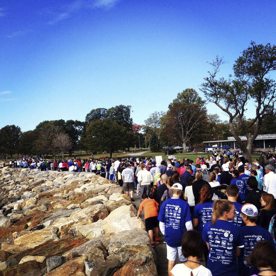 Contributed photoAt the 2013 Suicide Prevention Walk at Sherwood Island in Westport hundreds came out for the cause.