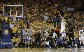 Golden State Warriors Shaun Livingston is fouled while shooting in the first quarter during Game 5 of the NBA Finals at Oracle Arena on Monday, June 13, 2016 in Oakland, Calif.