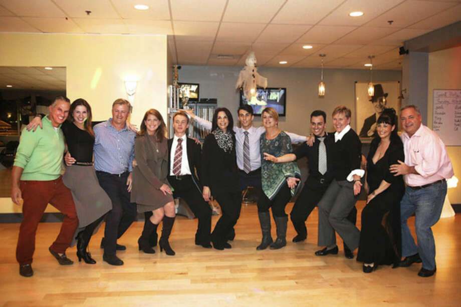 Norwalk's Fred Astaire Dance Studio and dancers gather for a photo before preparation for the 2nd annual Dancing With The Stars event to benefit ElderHouse Thursday evening.Hour Photo / Danielle Calloway