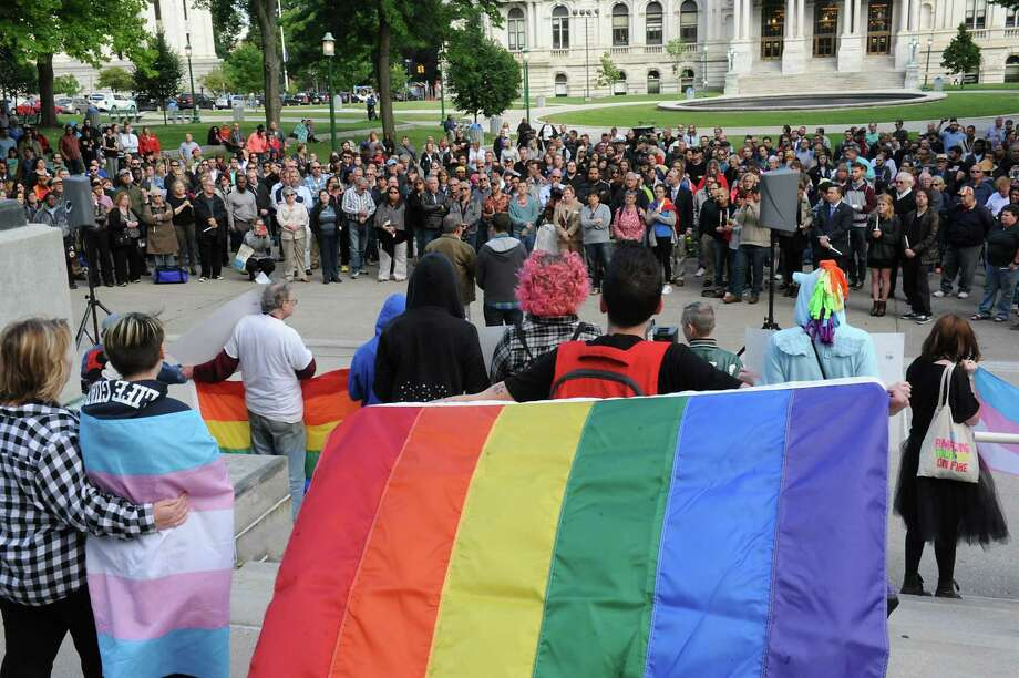 A vigil is held for the victims of the Orlando massacre at West Capitol Park on Monday, June 13, 2016 in Albany, N.Y. (Lori Van Buren / Times Union) Photo: Lori Van Buren / 40036950A