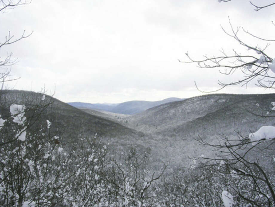 Photo by Rob McWilliamsValley of the Macedonia Brook, looking south.