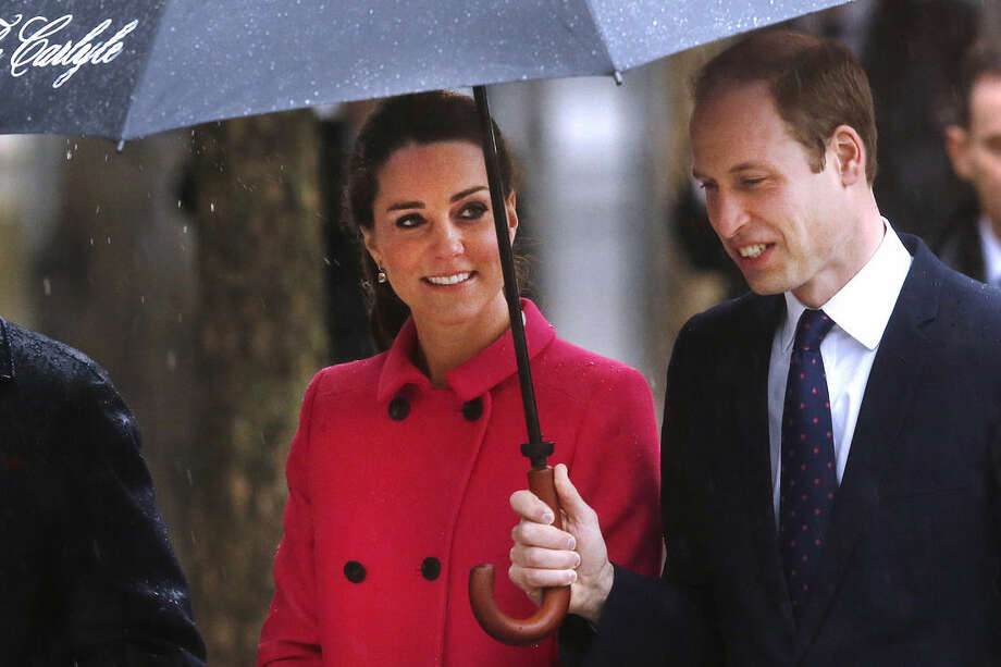 Britain's Prince William, the Duke of Cambridge, and Kate, Duchess of Cambridge, visit the National Sept. 11 Memorial and Museum, Tuesday, Dec. 9, 2014 in New York. (AP Photo/Jason DeCrow)
