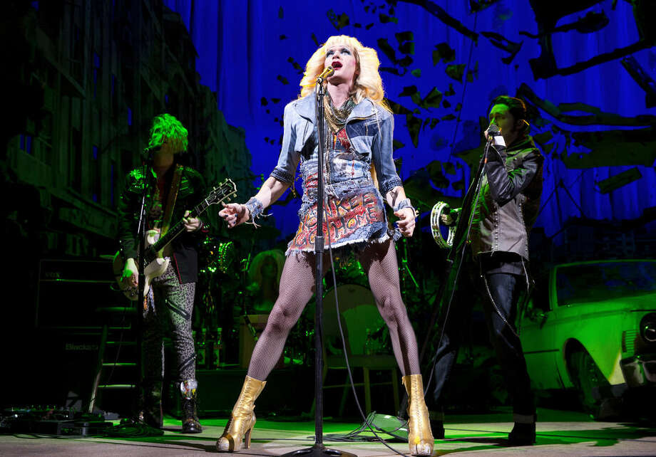 "FILE - This file image released by Boneau/Bryan-Brown shows Neil Patrick Harris in a scene from ""Hedwig and the Angry Inch,"" at the Belasco Theatre in New York. (AP Photo/Boneau/Bryan-Brown, Joan Marcus, File)"