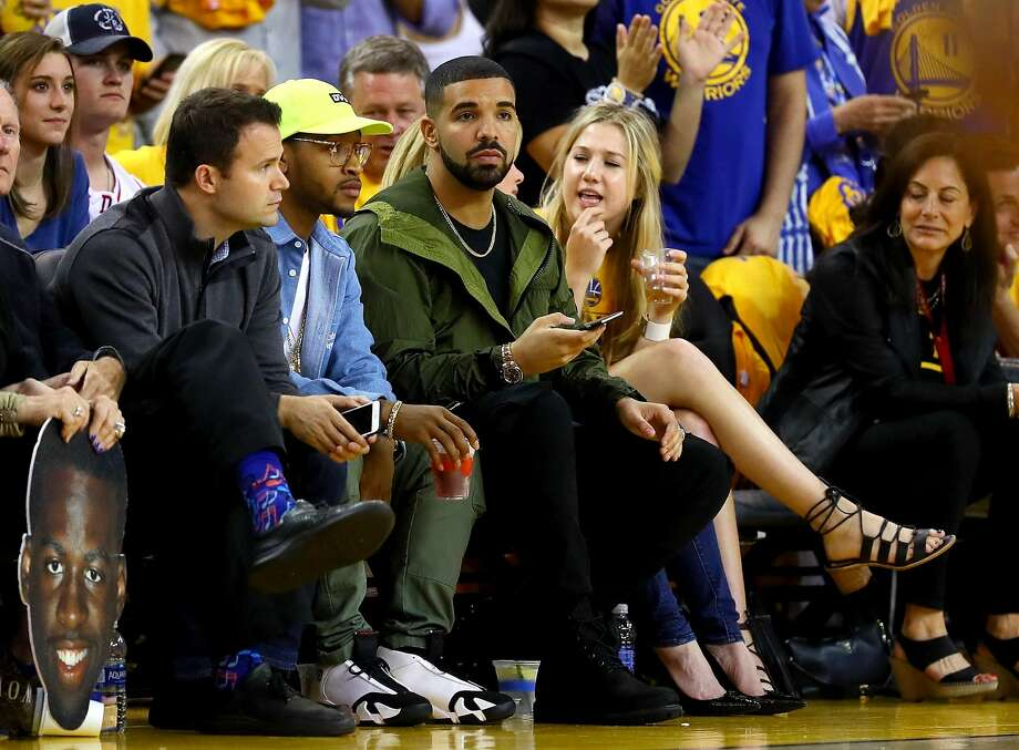 It wouldn't be an NBA game without rapper Drake on the sidelines. After all, he's best friends with [insert player's name here]. Photo: Ezra Shaw, Getty Images