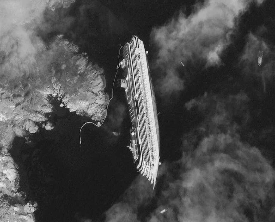Satellite Photos Stricken Cruise Ship from Orbit