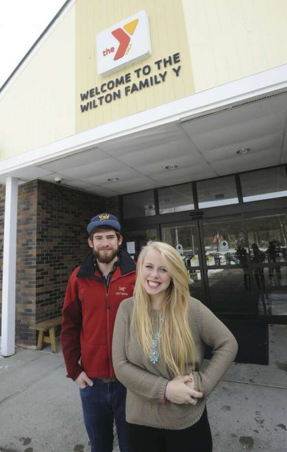 "Hour photo/Matthew VinciDoug Bogan and Melody Curran are putting on ""Come Together for Newtown"" concert in Danbury to raise funds for Newtown families. Ten Fairfield County college-aged music acts will take part in concert. The Wilton Y is sponsoring the event."