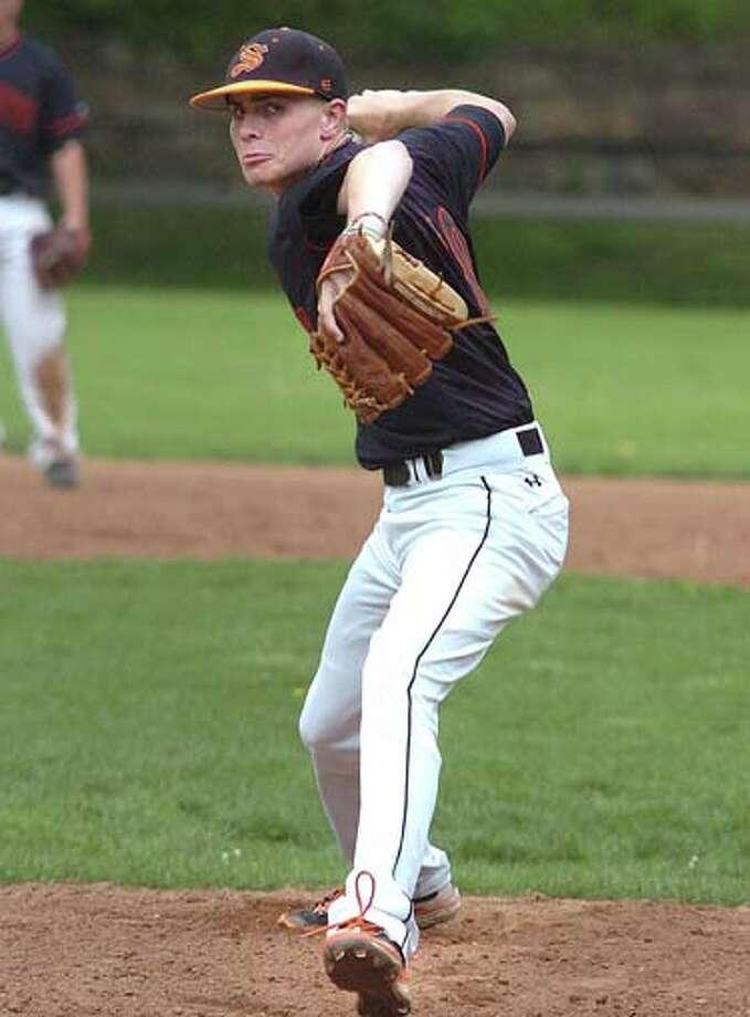Photo/Alex von Kleydorff. Stamfords pitcher #10 vs Norwalk. / © 2011 The Hour Newspapers/Alex von Kleydorff