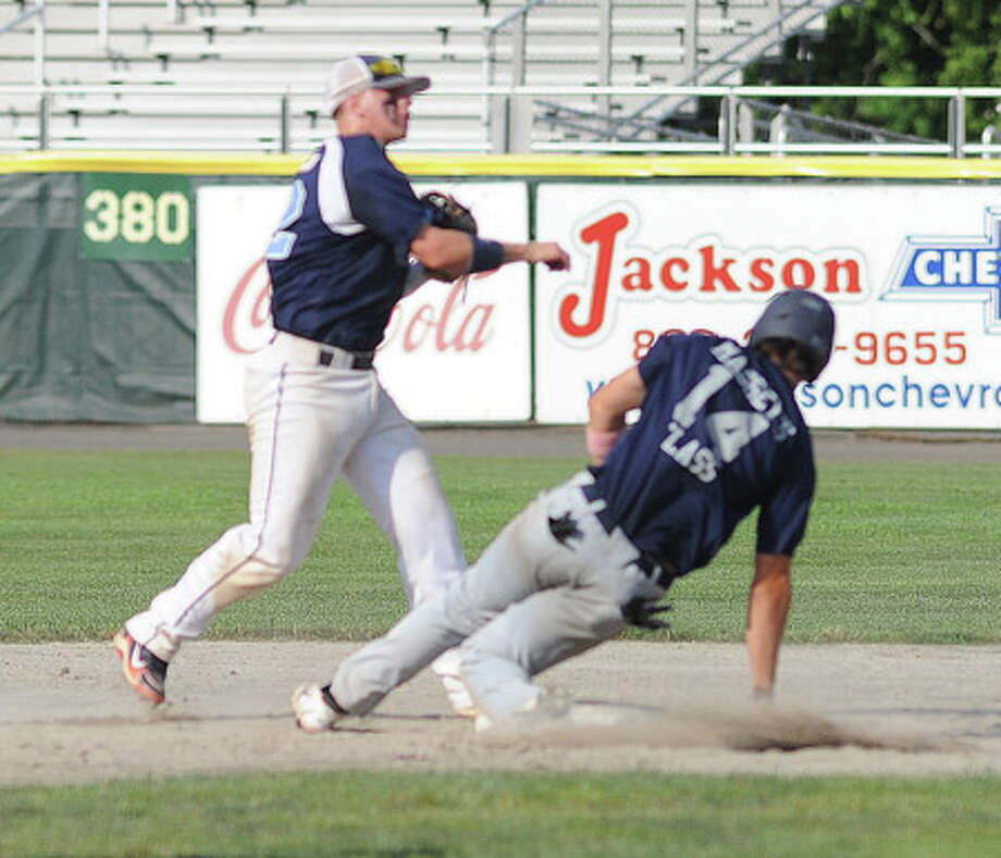 """""""Breaking up"""" a double play almost breaks a knee cap"""