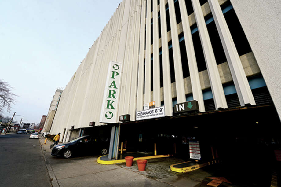 The City of Stamford's Bell St garage. The City has discussed extending the hours at three city-owned parking garages at Bell Street, Bedford Street and Summer Street. Hour photo / Erik Trautmann / (C)2012, The Hour Newspapers, all rights reserved