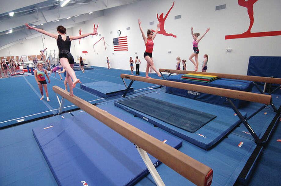Hour Photo/ Alex von Kleydorff. The Y Gymnastics center in Wilton. / © 2012 The Hour Newspapers/Alex von Kleydorff