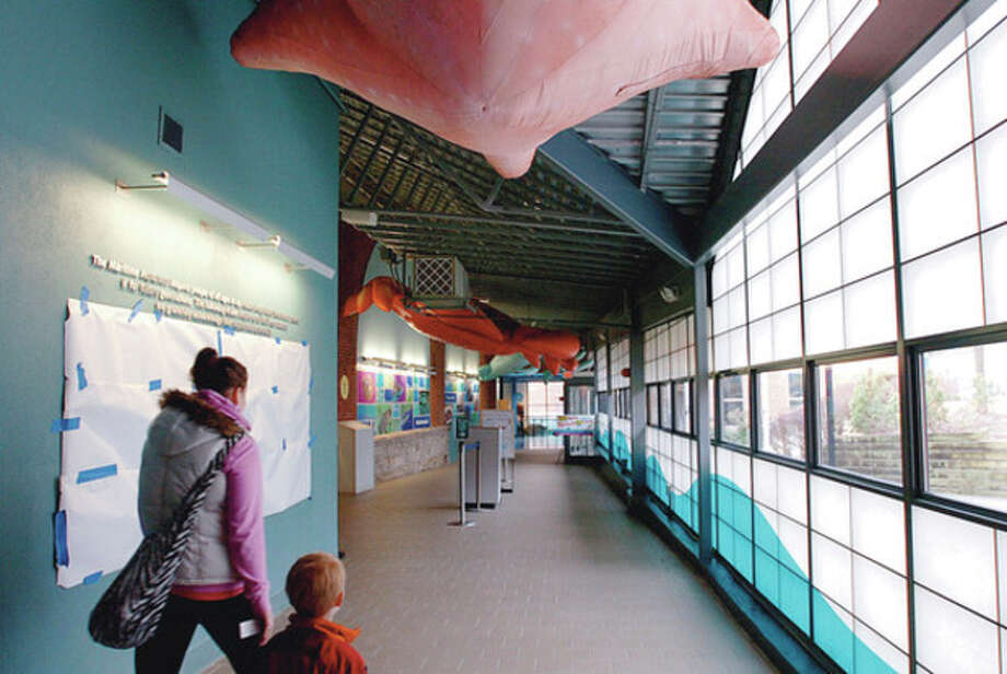 The entry way of The Maritime Aquarium has a new look after renovations. / (C)2011, The Hour Newspapers, all rights reserved
