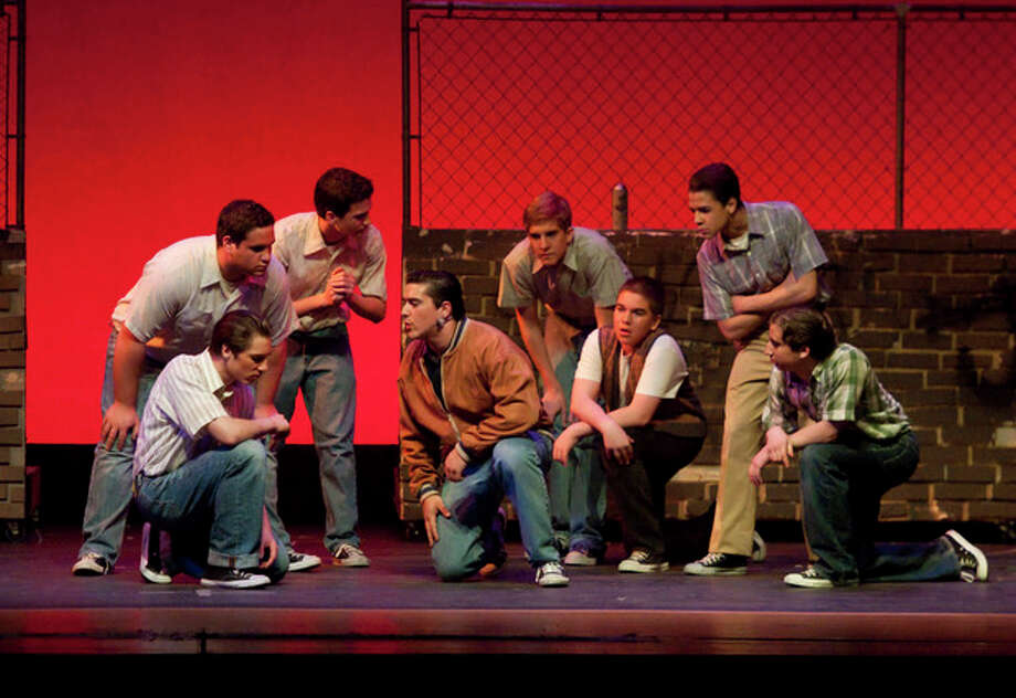 """Contributed photoDrama Club cast perform a scene from """"West Side Story"""" in Brien McMahon High School's production that offers more performances Friday at 8 p.m, and Saturday at2 p.m. and 8 p.m. / ShadowLoungeProductions.com"""