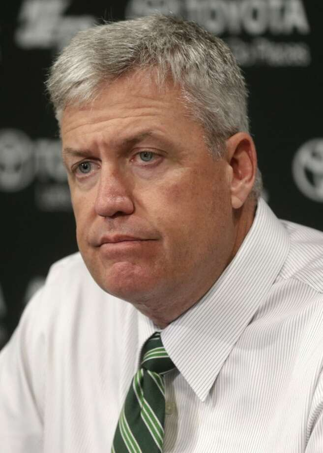 New York Jets head coach Rex Ryan participates in a news conference Tuesday, Jan. 8, 2013 in Florham Park, N.J. (AP Photo/Seth Wenig)