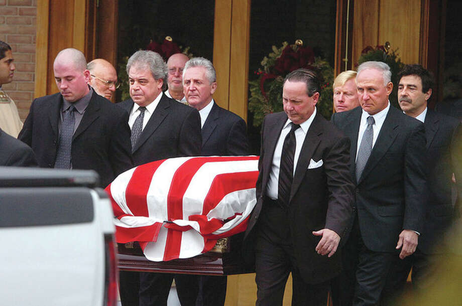 Hour photo / Alex von KleydorffFuneral service was held Monday morning at St. Matthew Church for former Norwalk Mayor Frank Esposito. / 2013 The Hour Newspapers