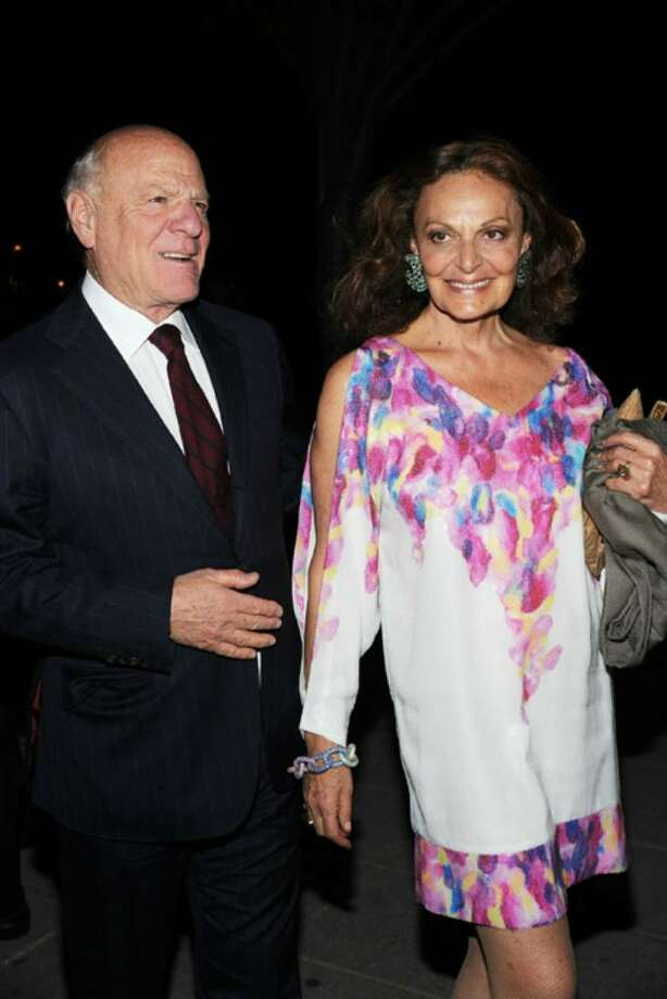 File photo on April 20, 2010 of chairman and CEO of IAC Barry Diller (L) and designer Diane Von Furstenberg attend the Vanity Fair party before the 2010 Tribeca Film Festival at the New York State Supreme Court in New York City. The couple cloned their dog Shannon into two new pups. Photo: Bryan Bedder, Getty Images For Tribeca Film Fe / 2010 Getty Images