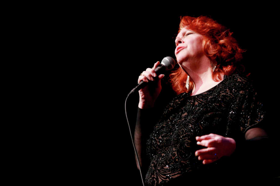 "Dianne Mower performs ""Summer Song"" during the Community Celebration of the Life and Music of Dave Brubeck at Wilton High School on Saturday, January 12, 2013. (Chris Palermo / Hour Photo) / ©2012 The Hour Newspapers All Rights Reserved"