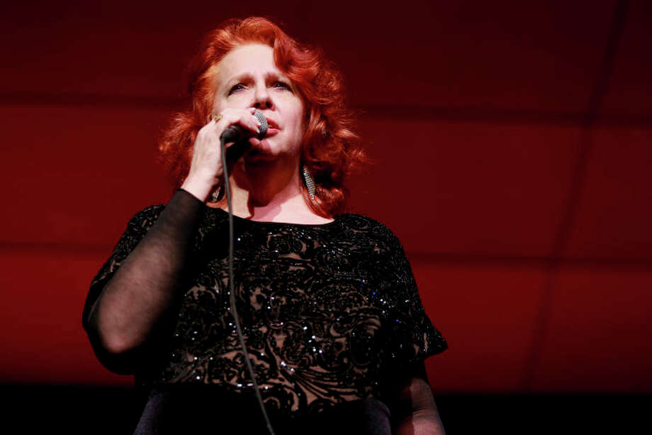 """Dianne Mower performs """"Summer Song"""" during the Community Celebration of the Life and Music of Dave Brubeck at Wilton High School on Saturday, January 12, 2013. (Chris Palermo / Hour Photo) / ©2012 The Hour Newspapers All Rights Reserved"""
