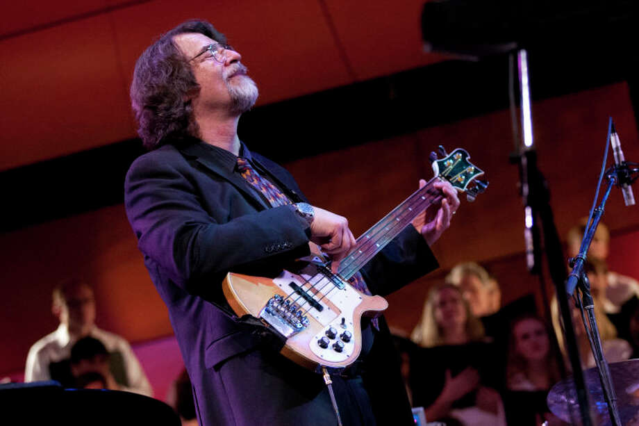 Chris Brubeck performs on bass during the Community Celebration of the Life and Music of Dave Brubeck at Wilton High School on Saturday, January 12, 2013. (Chris Palermo / Hour Photo) / ©2012 The Hour Newspapers All Rights Reserved