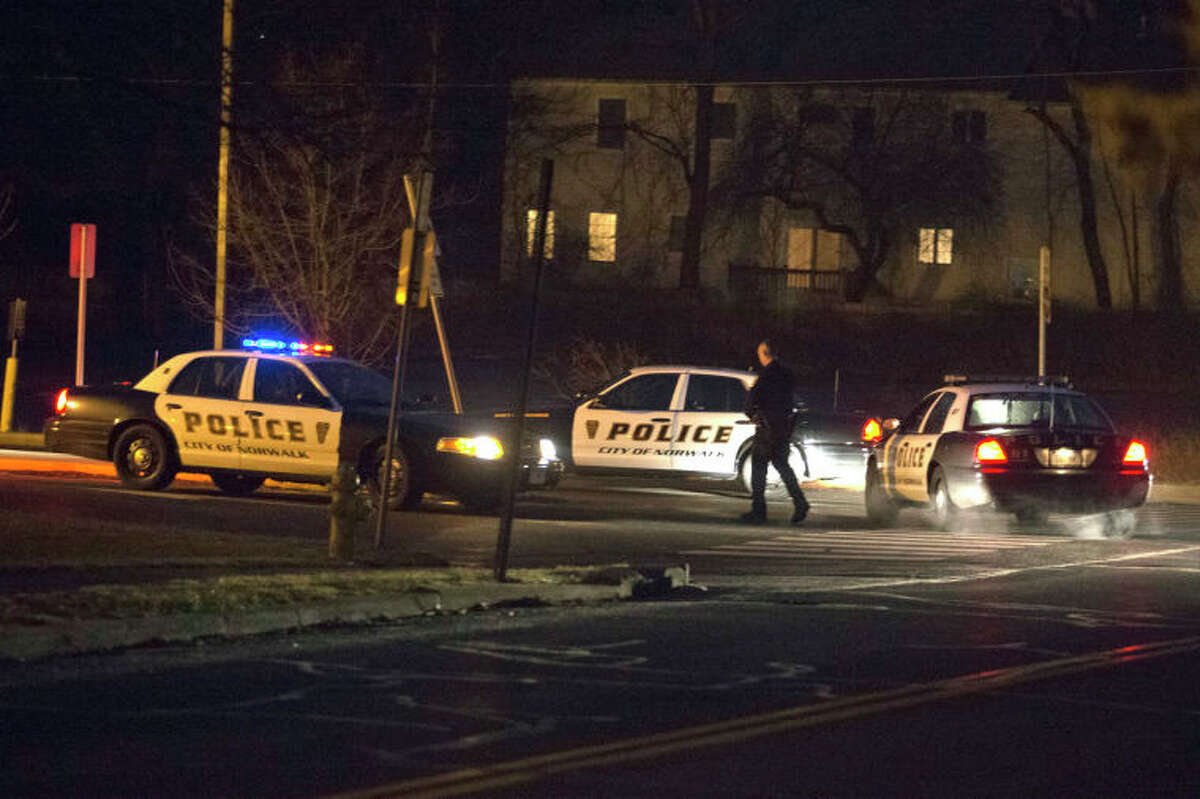 A man was shot in the leg on Fillow Street Sunday evening and took himself to Norwalk Hospital for treatment, according to police.