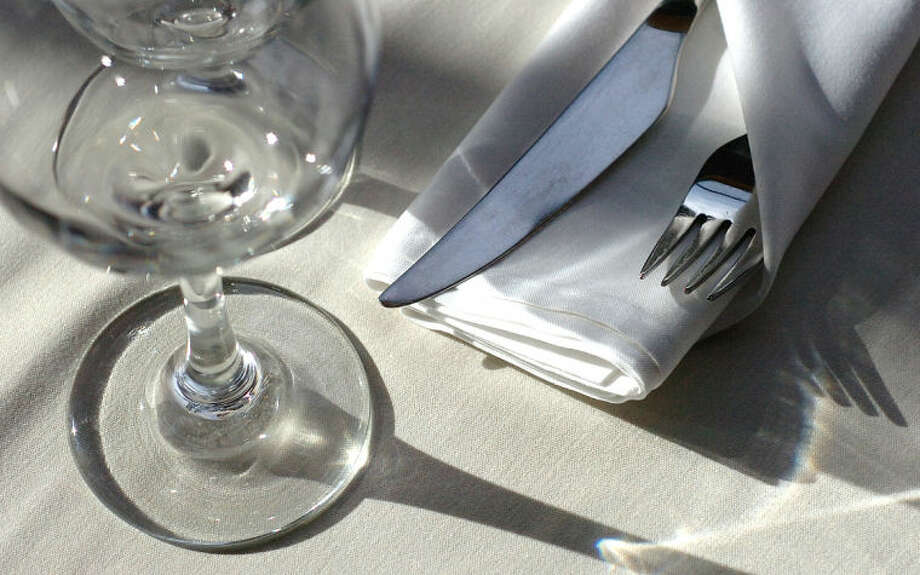 Hour Photo Alex von Kleydorff; White tablecloths and fine china at Tinto in Norwalk