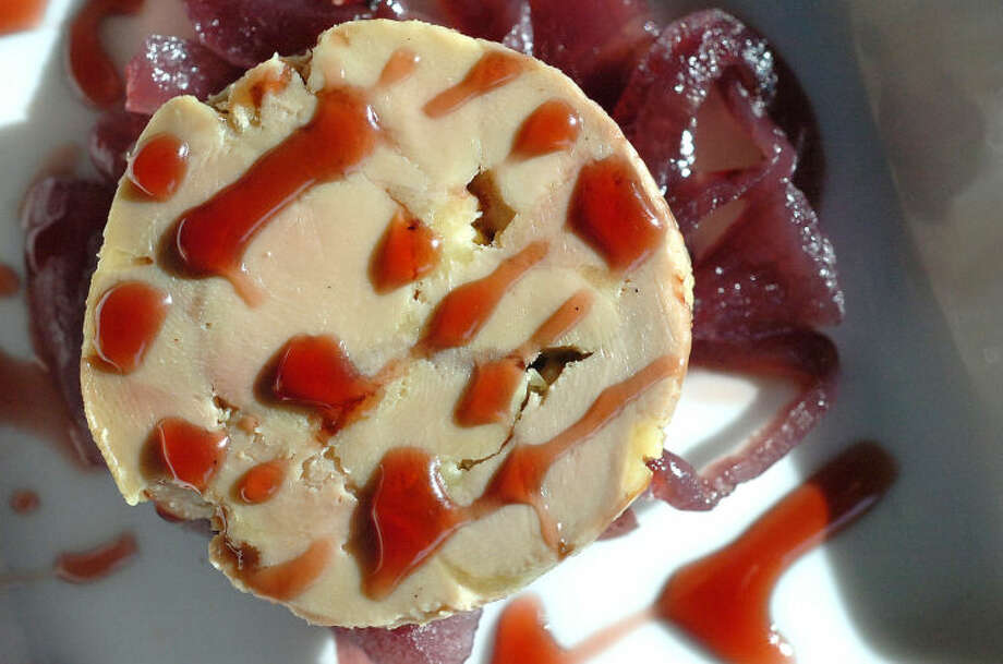 Hour Photo Alex von Kleydorff; Foie Gras with carmelized onion and red wine at Tinto