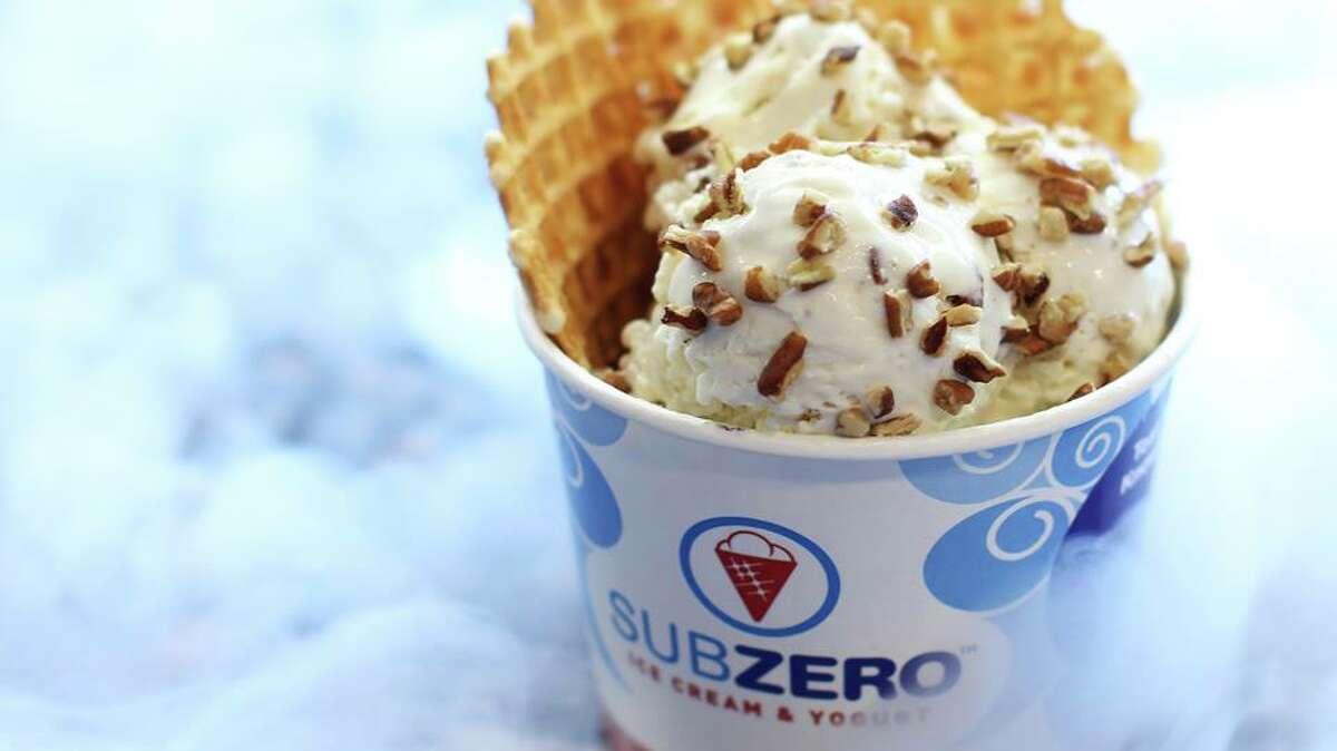 Sub Zero ice Cream will open June 17 at 15810 Southwest Fwy. in Sugar Land. The ice cream is made to order using liquid nitrogen. Shown: A serving of Sub Zero Ice Cream.