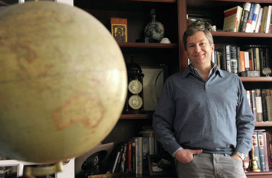 AP photo / Tim Cook, The DayScott Bates, president of the Center for National Policy, poses at his home in Stonington. / 2011 The Day Publishing Company