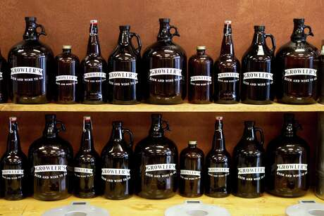Growler: A half-gallon jug that can be filled with beer at bars, specialty grocers or growler stores, and at licensed brewpubs.