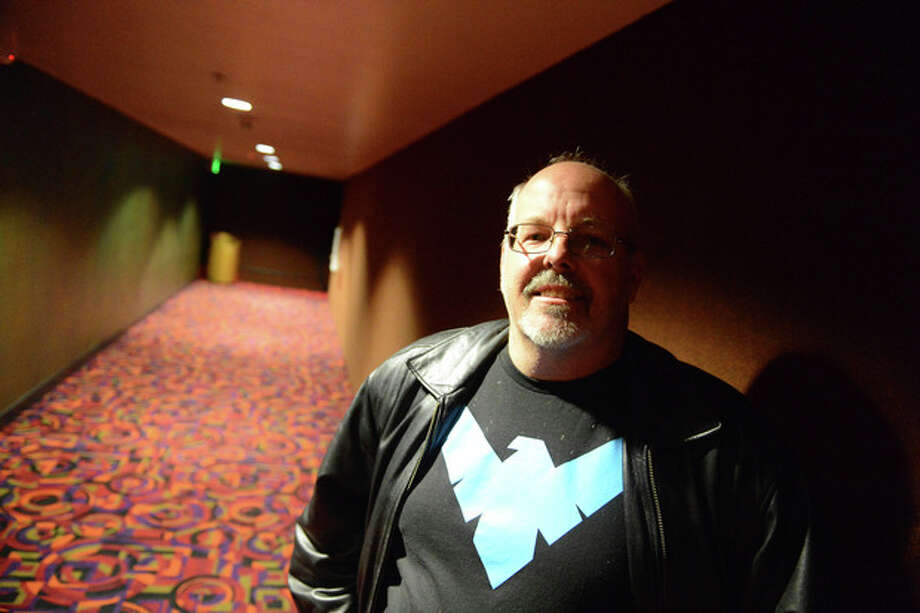 Tom Sullivan, father of slain victim Alex Sullivan, arrives for the reopening and remembrance ceremony at the Century Aurora cinema, formerly the Century 16, Thursday, Jan. 17, 2013 in Aurora, Colo. The cinema is where 12 people were killed and dozens injured in a shooting rampage last July. (AP Photo/The Denver Post, RJ Sangosti, Pool) / Pool Denver Post