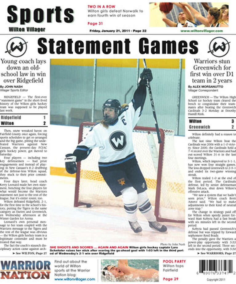 This week in the Wilton Villager (January 21, 2011 edition)