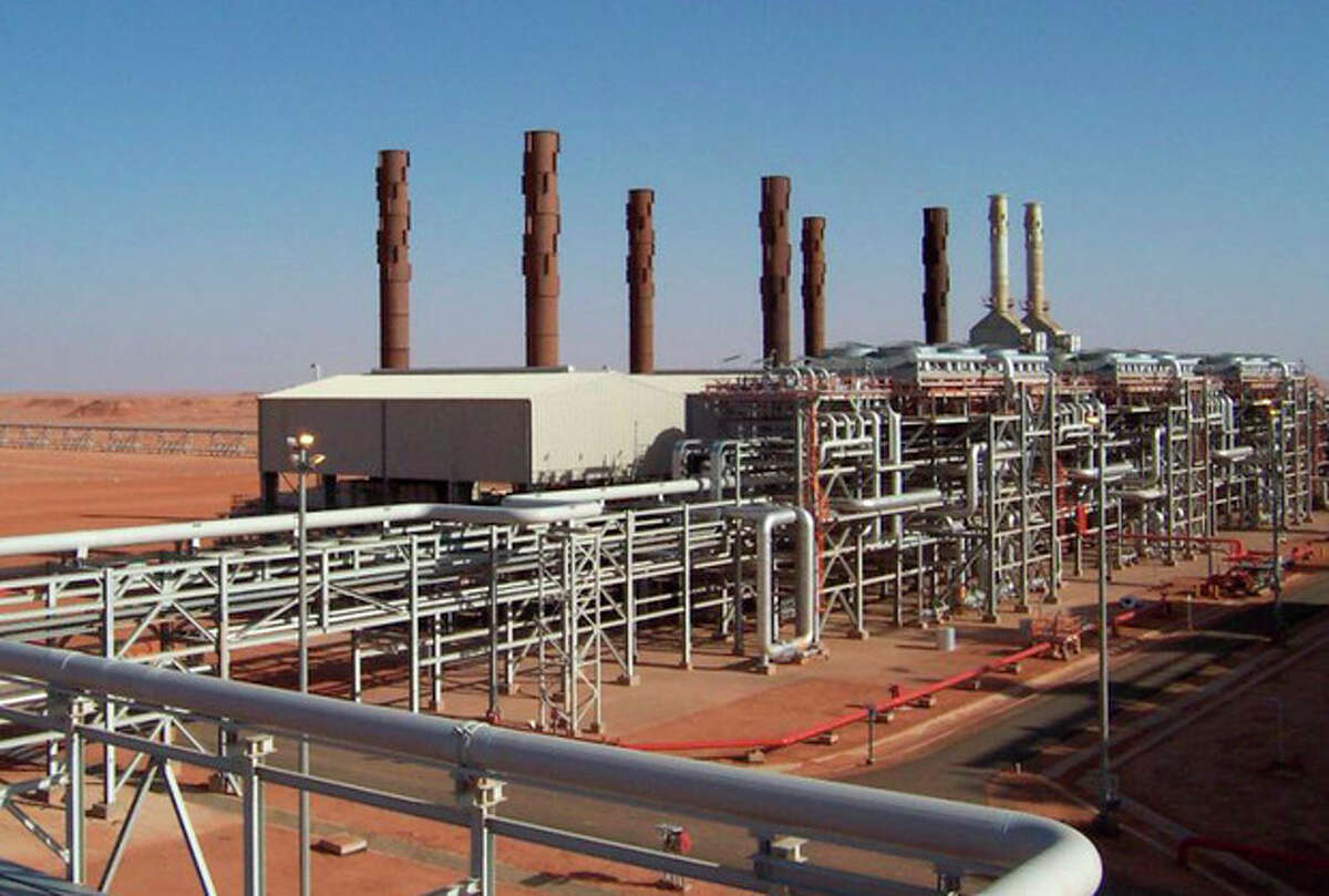 In this undated image released Wednesday Jan. 16, 2013, by BP petroleum company, showing the Amenas natural gas field in the eastern central region of Algeria, where Islamist militants raided and took hostages Wednesday Jan. 16, 2013. Islamist militants from Mali attacked the Amenas natural gas field partly operated by BP in Algeria early on Wednesday, killing a security guard and kidnapping at least eight people, including English, Norwegian and Japanese nationals, an Algerian security official and local media reported. Algerian forces, later caught up with and surrounded the kidnappers and negotiations for the release of the hostages are ongoing, officials said.(AP Photo/BP)