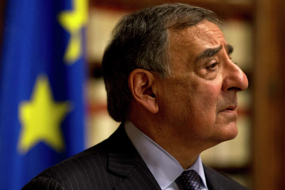 "Defense Secretary Leon Panetta pauses during a news conference in Rome, Wednesday, Jan. 16, 2013. Panetta confirmed on Wednesday that American citizens are among the hostages taken by an Al Qaeda-linked group that seized a gas field in Algeria, calling the action a ""terrorist attack,"" (AP Photo/Jacquelyn Martin) / AP"
