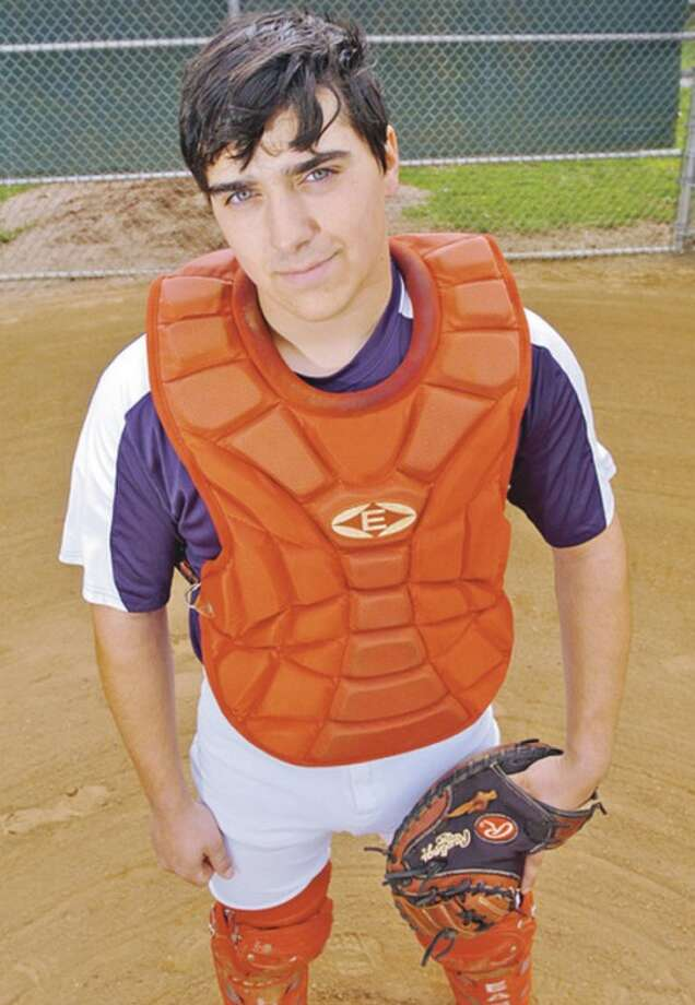 Hour photo/Erik TrautmannChris Holomakoff, a catcher for the Brien McMahon baseball team, is coming off an injury that threatened his season, but when the first pitch is thrown today, Holomakoff will be on the field for the Senators.