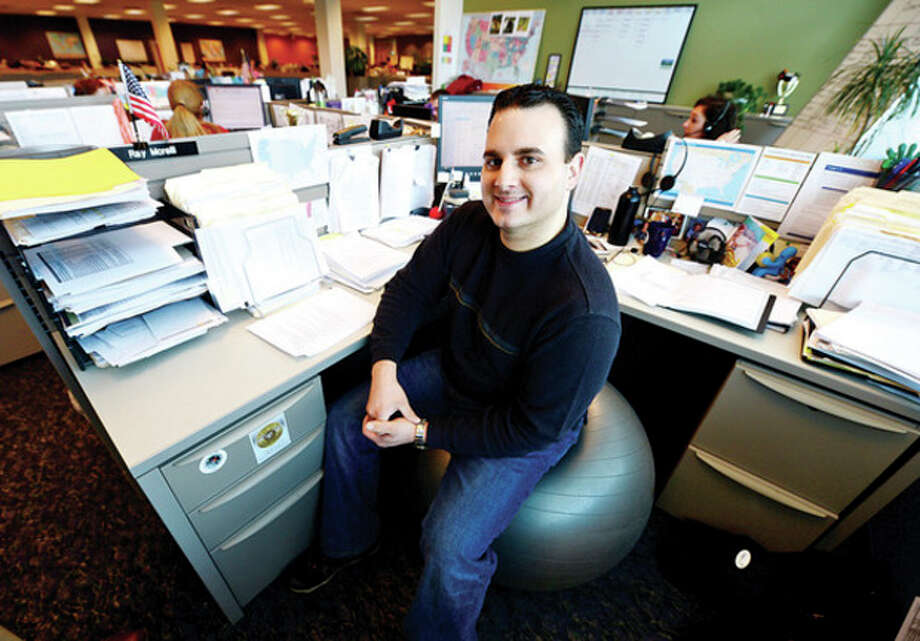 Comphealth Senior Search Consultant Ray Morelli. Conmphealth was named third-best company to work for by Fortune magazine.Hour photo / Erik Trautmann / (C)2012, The Hour Newspapers, all rights reserved