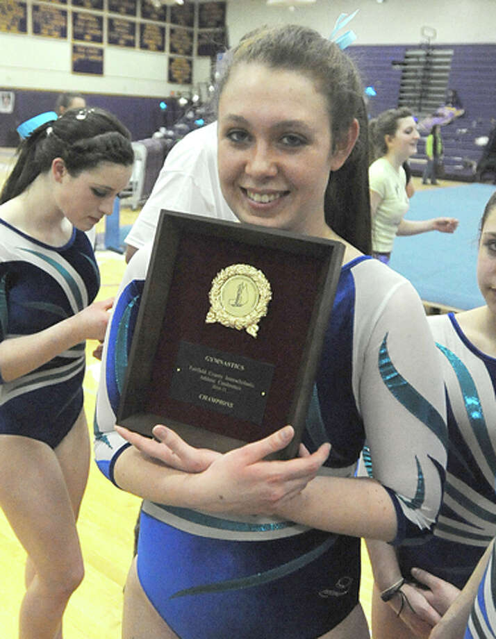 Wilton gymnasts win first FCIAC championship since 1997