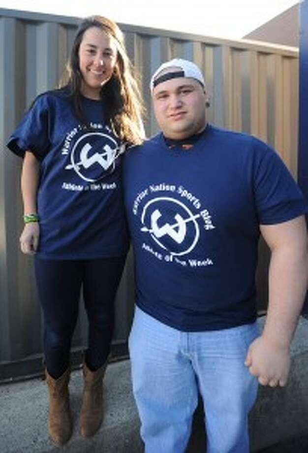 It's a tie — Jolie Poirier/Jesse Socci share Trackside Teen Center's Athlete of the Week award
