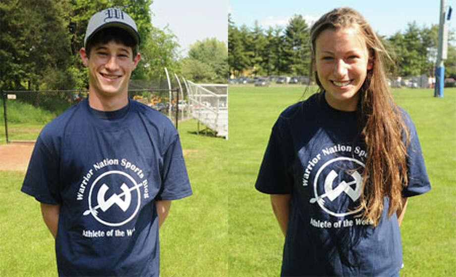 Houska, Breslin — A pair of Tiger killers — earned Trackside Teen Center Athlete of the Week award