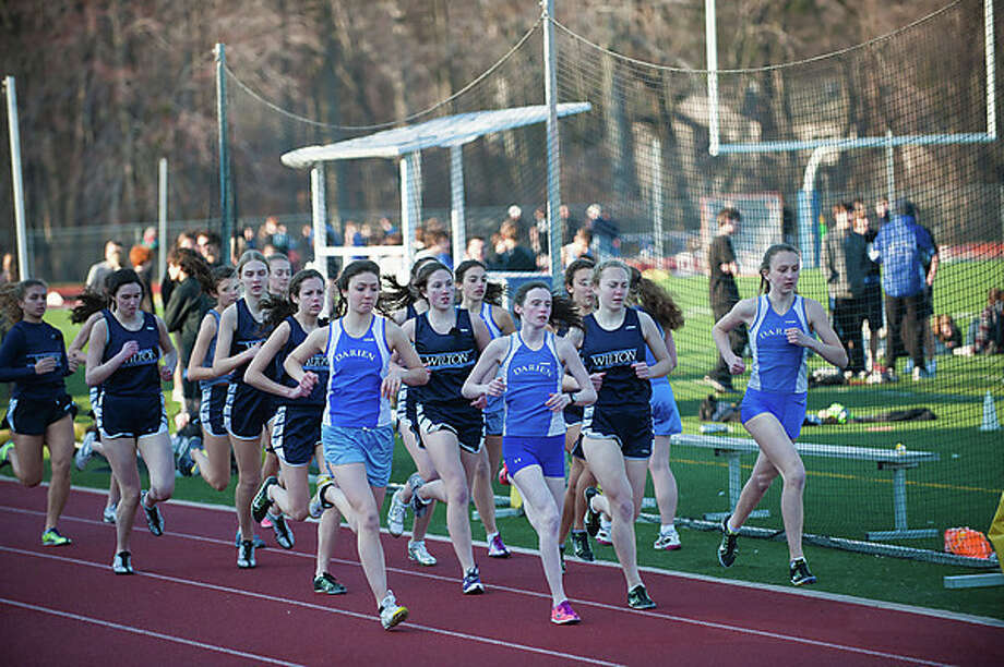 Yes, Virginia, there was a girls track meet at Darien this week