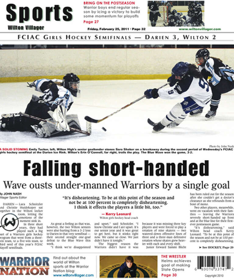 This week in the Wilton Villager (Feb. 25, 2011 edition)